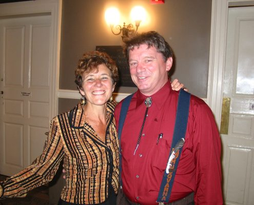 Barbara Solowey with Alexander Forbes Emerson
